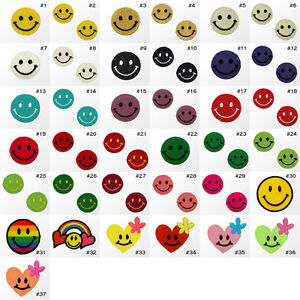2641R-Small-Smiley-Face-Craft-Kids-Children-Embroidered-Sew-Iron-On-Patch-Badge
