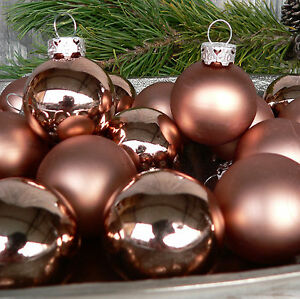 Christbaumkugeln Glas Kupfer.24 St Christbaumkugeln 4cm Set Glas Kupfer Weihnachtskugeln