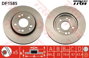 2 pièces TRW df1585 Disque de frein