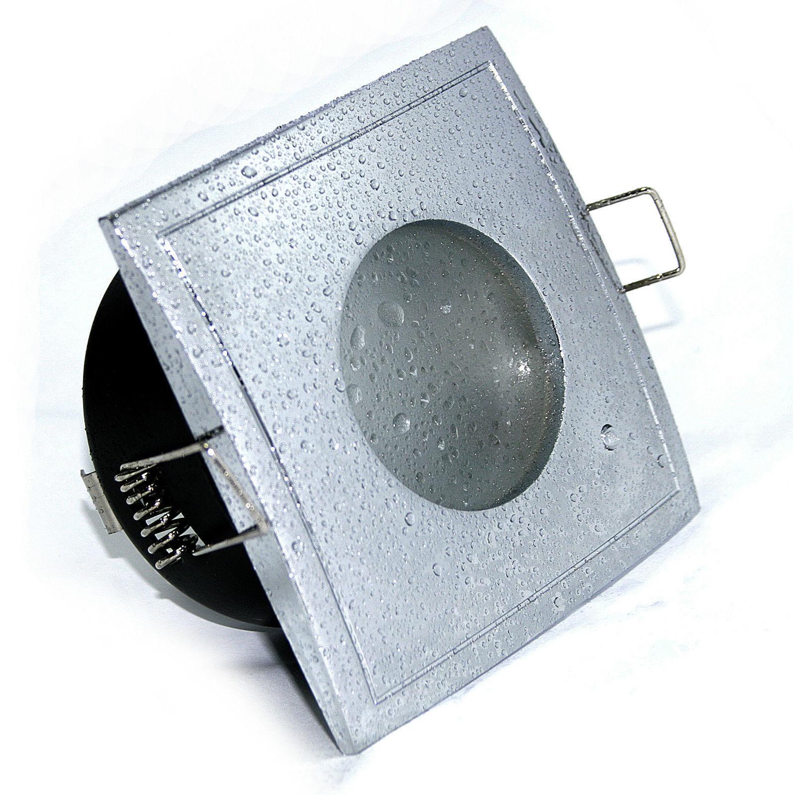 5W = 50W COB Power LED Einbaulampe 230V für Bad, Dusche, Feuchtraum eckig IP65
