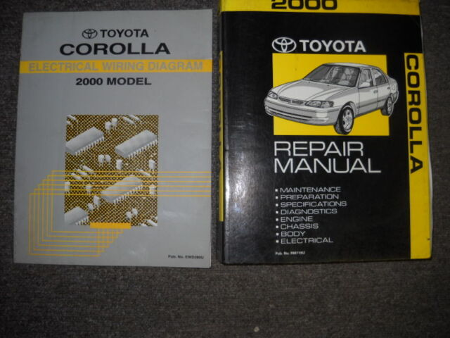 2003 Toyota Corolla Matrix Service Repair Workshop Shop Manual Oem Set W Ewd