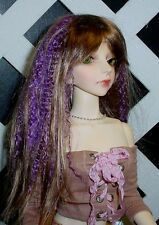 "Doll Wig, Monique Gold ""J-Rock"" Size 7/8 in Brown-Purple"