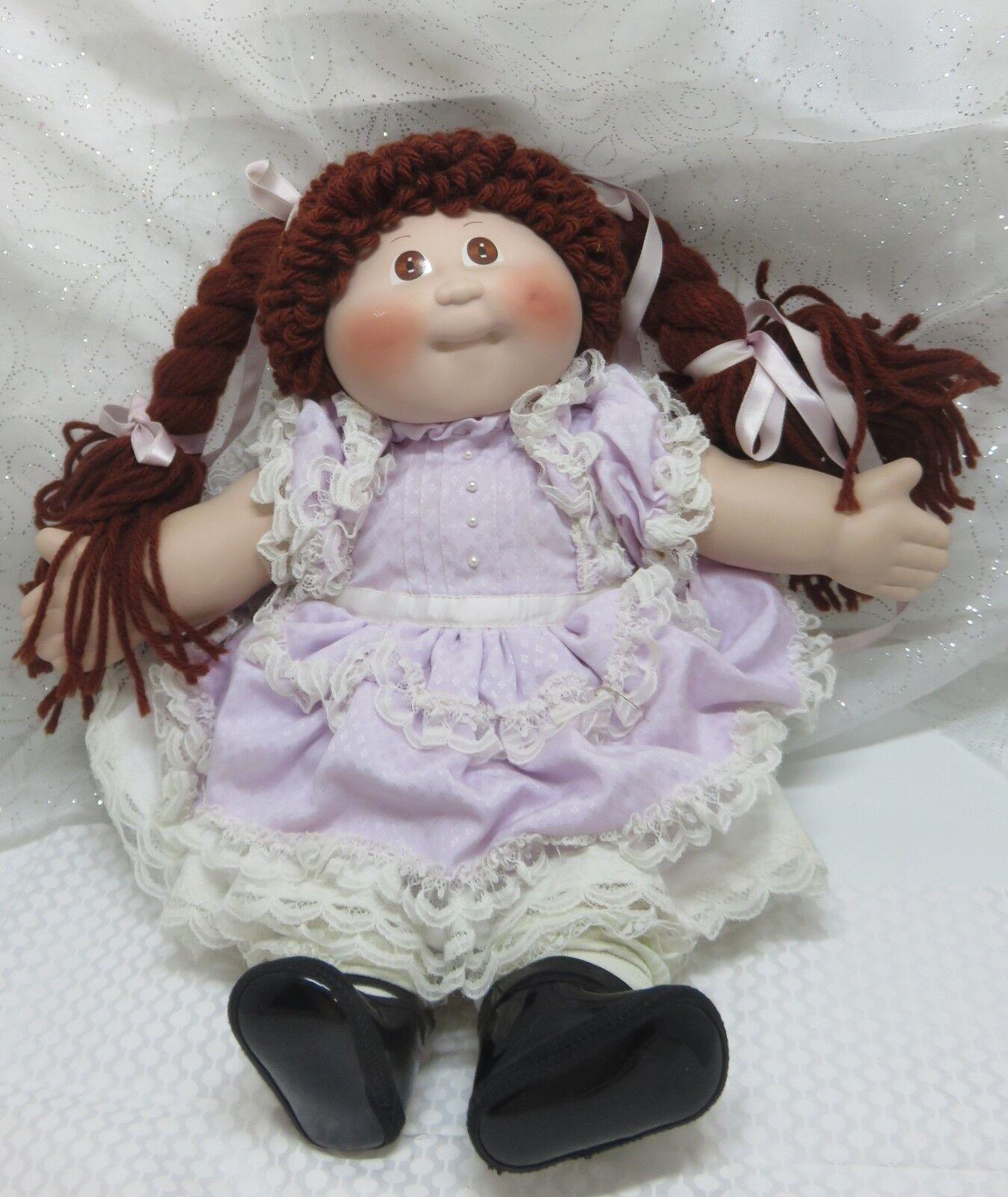 VTG NIB 1985 Porcelain Cabbage Patch braun Eyed Brunette Stephanie Anne Ltd Ed