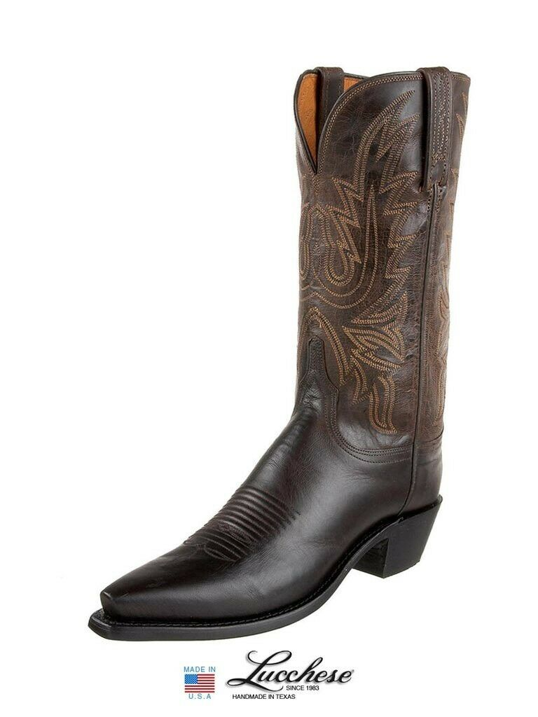 Lucchese N4554.54 Burnished Mad Dog Goat Leather  Womens Boots NEW size 6.5B