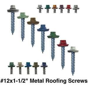 250 Self Starting Metal to Wood siding Screws 10 x 1 Dark Red Hex Head Sheet Metal Roof Screw Colored Head Metal Roofing Screws: EPDM Washer