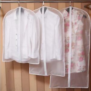 Transparent-Clothes-Suit-Overcoat-Dustproof-Cover-Nonwoven-Fabric-Bag-Home-US