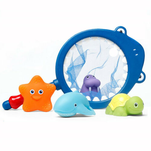 Baby Bath Toys with Fishing Net Floating Animals Water Toy Bathroom Fishing SPM