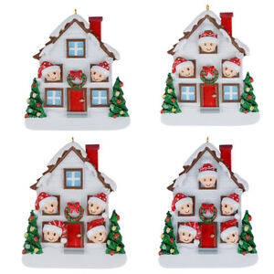 MAXORA-Family-of-2-3-4-5-Christmas-House-Personalized-Ornament-Holiday-Gift