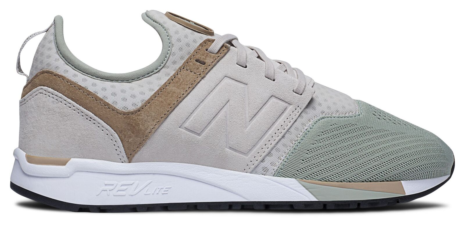 New Balance Men's 247 Sport Shoes Grey with Green