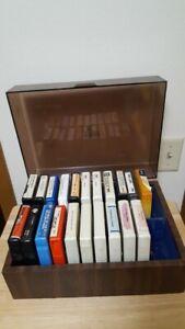 A2- 8 Track Tape Vintage Lot 21 Piec Collection Case Mix Gospel Love Music Bible