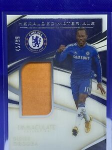 2020 Panini Immaculate DIDIER DROGBA #45/99 Heralded Materials Jersey patch
