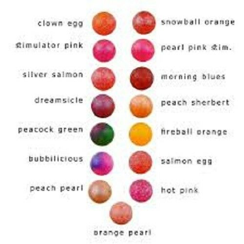 UV2 Clown Egg Fusion Egg 6-10mm Trout Bead $2.50 US Combined Shipping