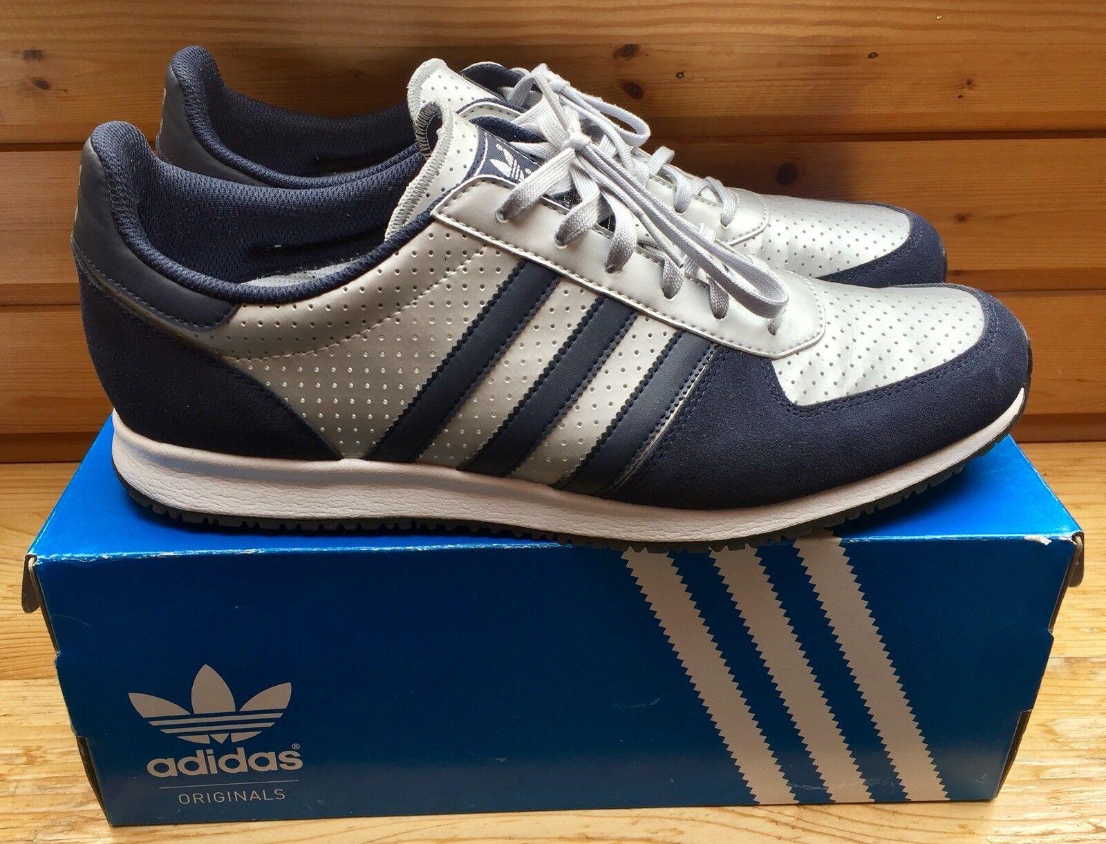 Adidas Adistar Racer Gr. 47 1 3 blau silber OVP seltene Farbkombination UK 12