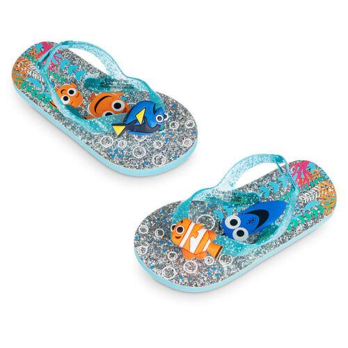 Disney Store Finding Dory Nemo Flip Flops Sandals Girls 5//6 7//8 9//10 11//12 13//1