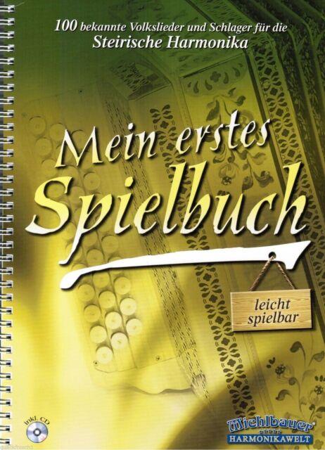 Steirische Harmonika Noten: Mein erstes Spielbuch 100 Stücke leicht - mit CD