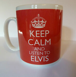 Keep-Calm-and-Listen-To-Elvis-Mug-Carry-On-Retro-Gift-Present-Cup-Elvis-Presley