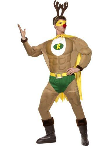 Super renne Muscle Costume Noël rentierman Super-héros