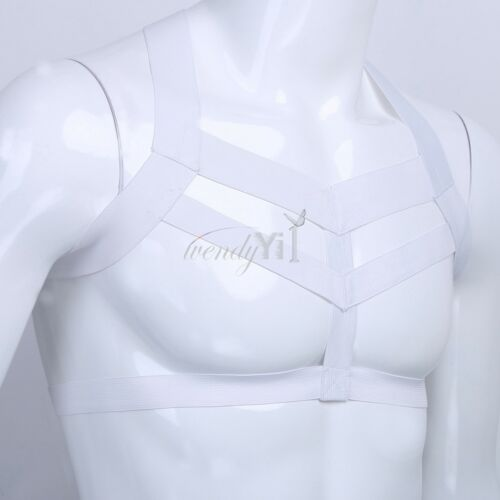 Men PU Leather Full Body Chest Harness Lingerie Cosplay Clubwear Costume Belts