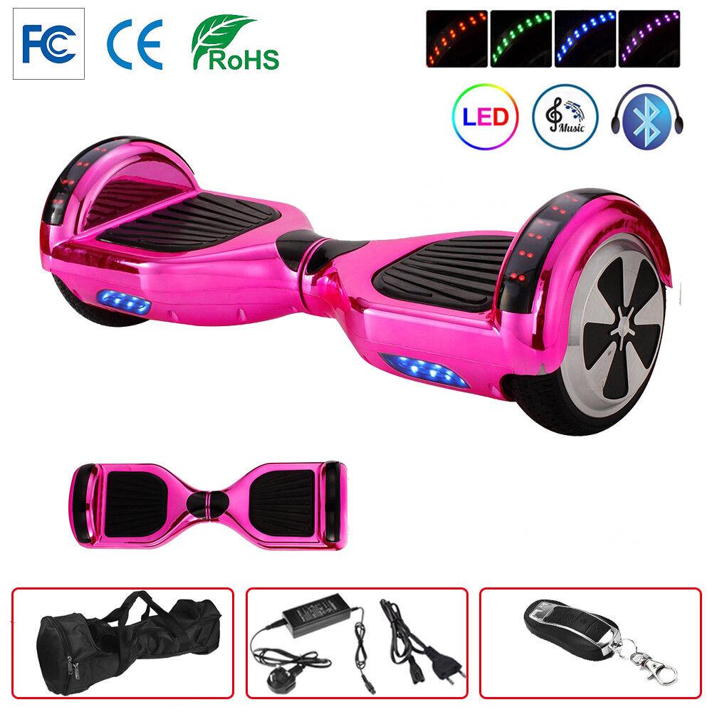 6.5/8/10 Zoll E-Balance Elektro Scooter Blautooth Skateboard LED Elektroroller LED Skateboard 6ed831