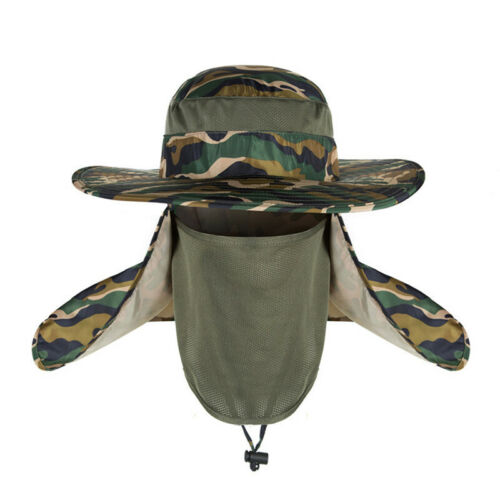 Hiking Fishing Hat Outdoor Sport Sun Protection Neck Face Flap Cap Wide Brim 6T