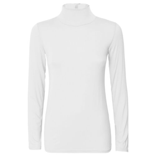NEW LADIES WOMEN/'S LONG SLEEVE PLAIN POLO NECK TOP TURTLE NECK JUMPER SIZE 8-26