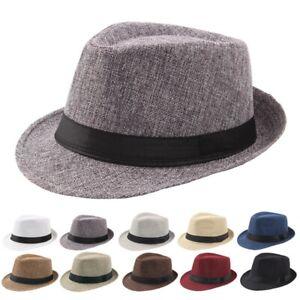 Elegante-Hombre-Mujer-Paja-Sombrero-Trilby-Verano-Sol-Panama-Tapa-Playa-Nuevo-Au