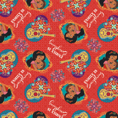 DISNEY ELENA OF AVALOR FAMILY IS EVERTHING FABRIC CP64209