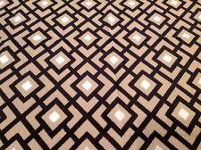 Clarke & Clarke Geometric Trellis Velvet Fabric Arlington/Ebony 1.25 yd F0237/03