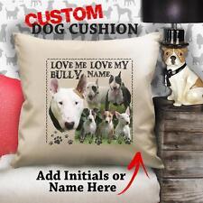 Personalizzato English Bull Terrier Cucciolo Di Cane Vintage Cuscino Tela Regalo