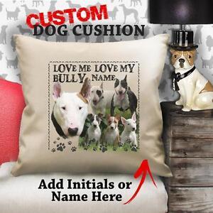 Personalisiert-Englischer-Bullterrier-Hund-Welpe-Vintage-Kissen