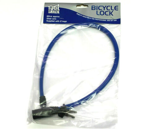Bicycle CABLE BIKE LOCK Compact Cycle Steel Core Security Spiral Coil PVC Cover