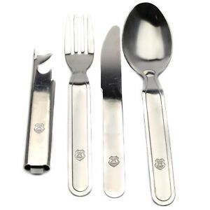 Genuine-Hungarian-army-cutlery-set-4-pcs-Eating-utensils-military-flatware-NEW