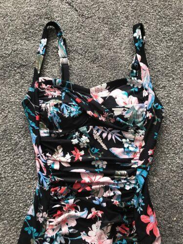 M/&S Swimming Costume Floral Swimsuit UK 8 Secret Tummy Control