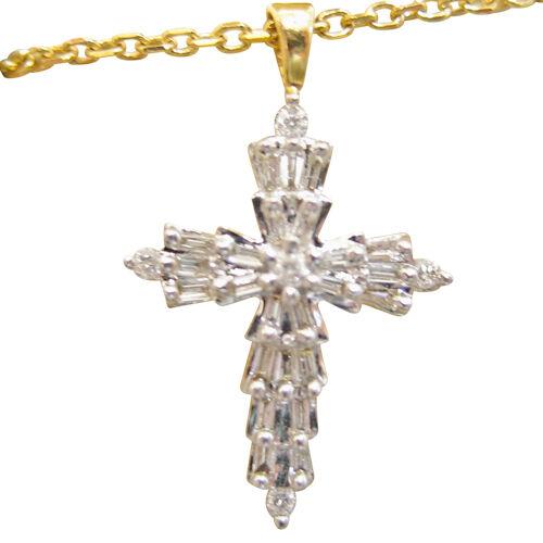 DIAMOND YELLOW gold ROUND BRILLIANT SHAPE BAGUETTE