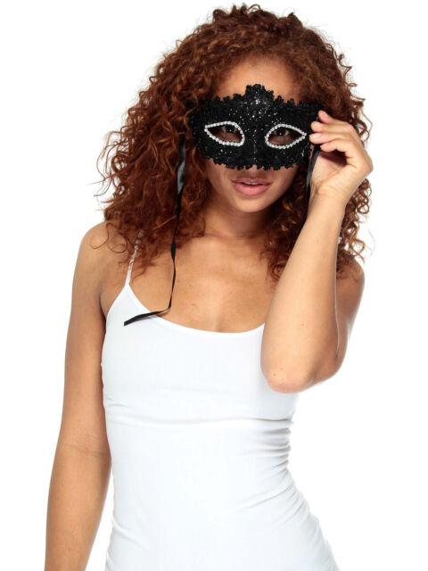 Elegant Victorian Venetian Fancy Masquerade Black Lace Bat Girl Eye Mask Costume