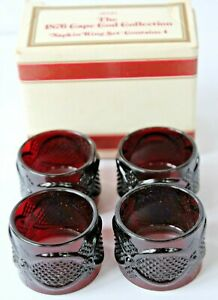Vintage-Avon-1876-Cape-Cod-Collection-Ruby-Red-Napkin-Ring-Set
