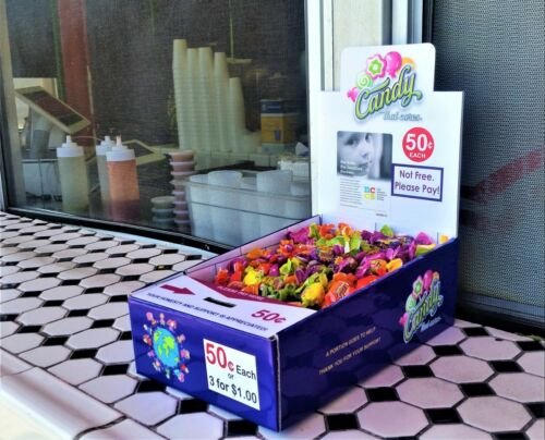 5 New Vending Route Display Honor Boxes Sells Candy /& Lollipops Donation Charity