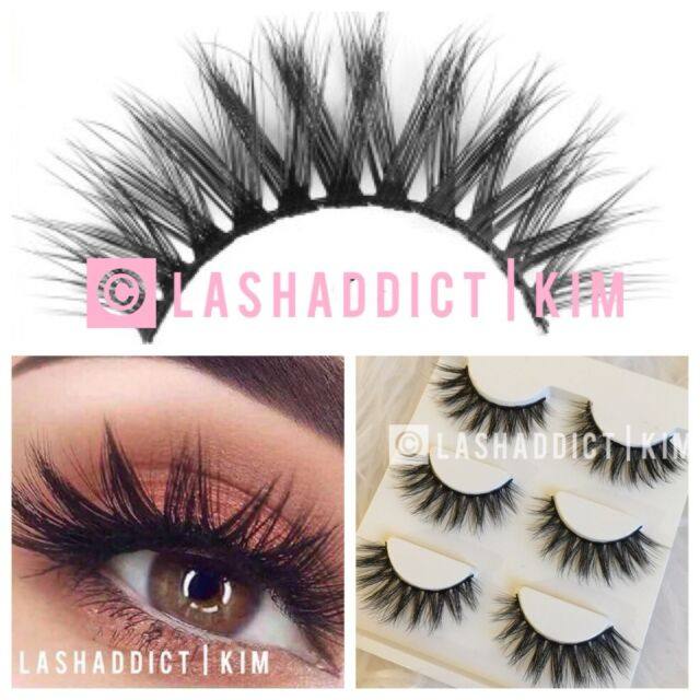 a626ce3aaff 3 Pairs Mink Lashes Eyelashes Flutterly WSP 3d Makeup Fur - for sale ...
