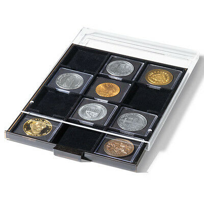 New Large Capacity Presentation Case For 80 2x2 Coin Quadrum Holder 4 Trays