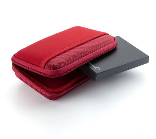 Red Drive Logic DL-64 Portable EVA Hard Drive Carrying Case Pouch