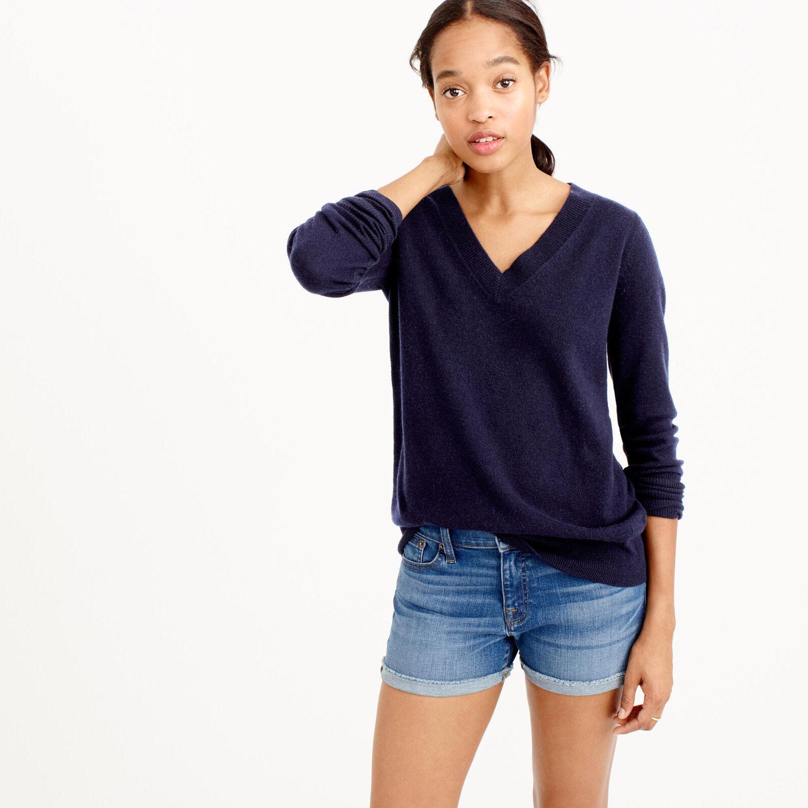 NWT - J.CREW - Italian Cashmere V-Neck Sweater - sz XXS XS (braun or Grün)  188