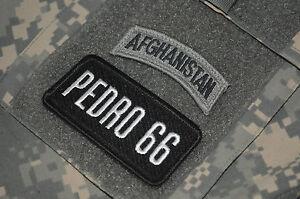 Afghanistan 2017 GreyGray Rocker Tab Patch