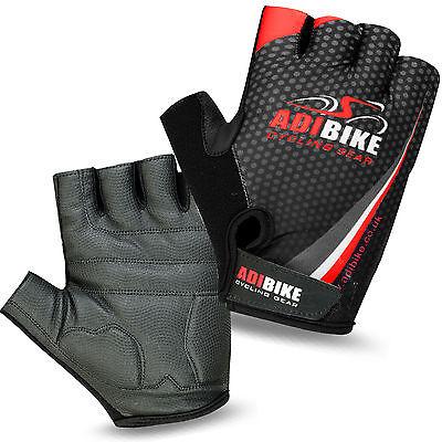 Men Cycling Gloves Bike Half Finger Bicycle Gel Padded Fingerless Sports Adibike