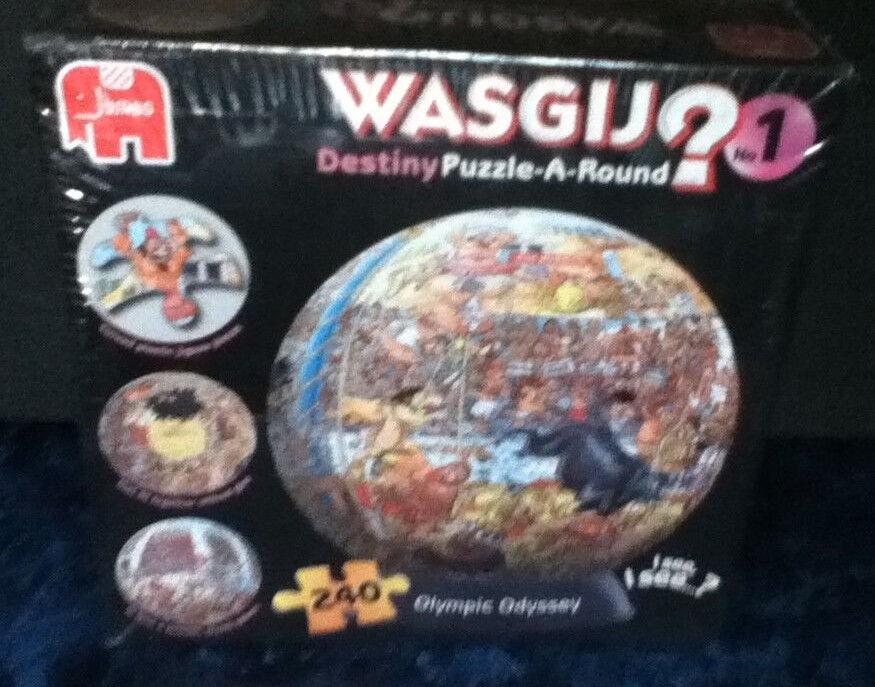 Wasgij 1  Destiny 3D Puzzle-A-Round Jigsaw & Stand Olympic Odyssey (240 Pieces)
