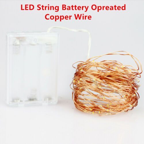 2M 5M 10M 100 Led Strings Copper 3XAA Battery Operated Christmas Wedding Party