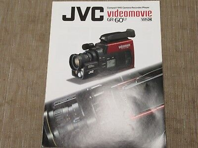 Jvc Vintage Gr 60u Vhs Portable Color Video Camera Original Catalogue Ebay