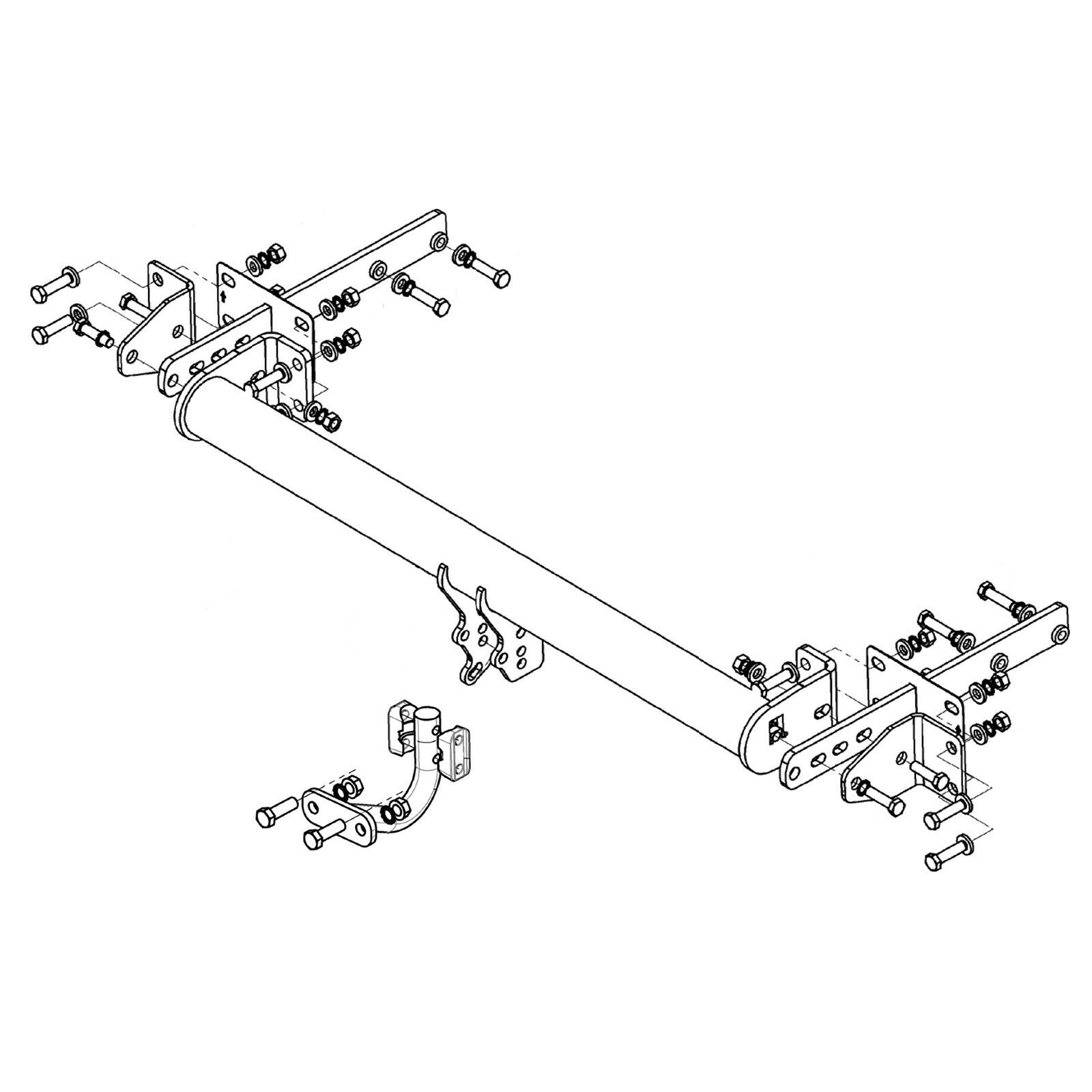 Witter Towbar for Mercedes E-Class Estate (S211) 2003-2010