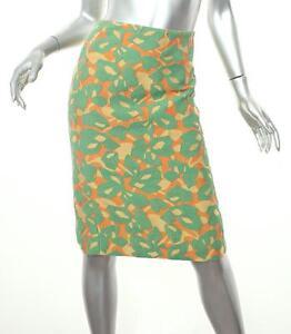 3a47606f9 Detalles de Prada Naranja para Mujer + Verde con Textura Estampado Falda de  Tubo 38/2 Xs