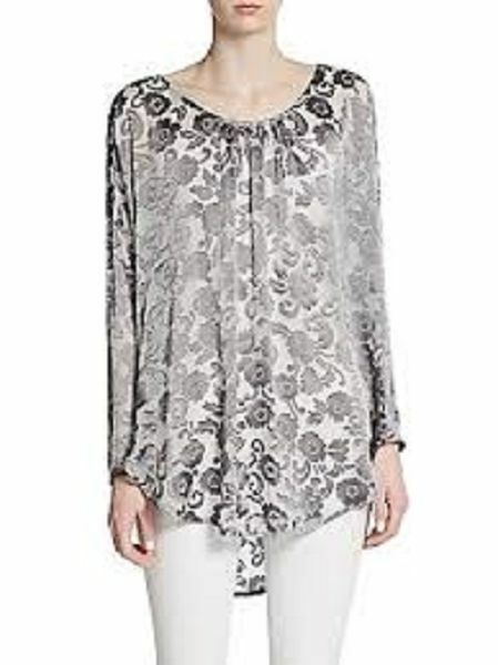 NWT CALYPSO ST BARTH Carmelo Burnout Pewter Top Small  275