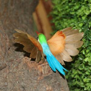 Fake-Artificial-Hummingbird-Feathered-Bird-Garden-Home-Decor-Taxidermy-Bird